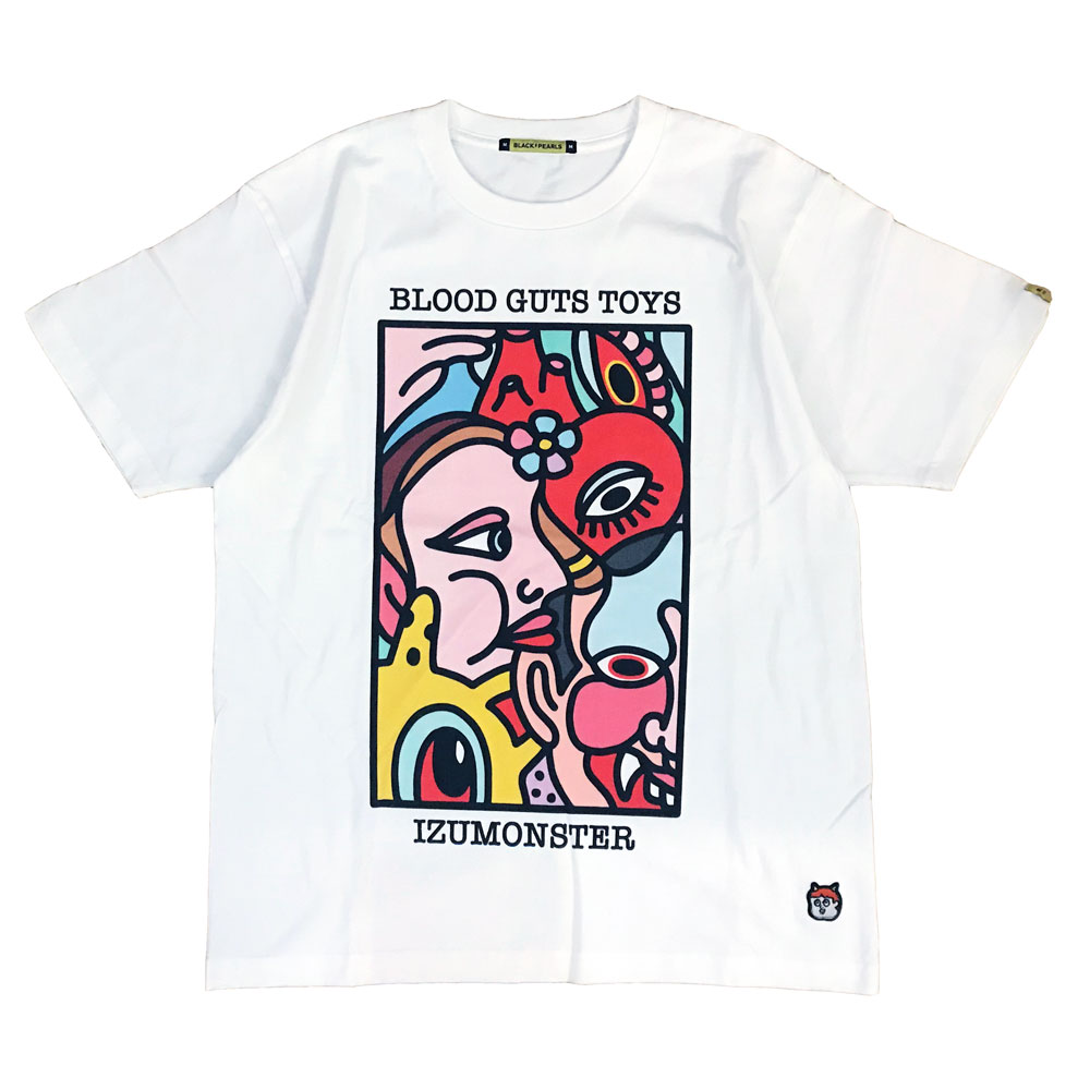 BLACKPEARLS x IZUMONSTER Tee White