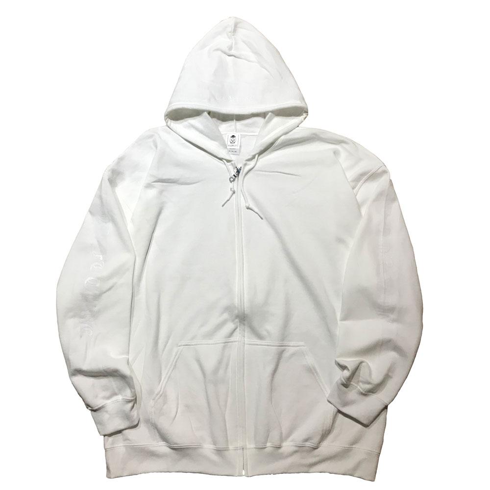 Zip Up Hoodie White