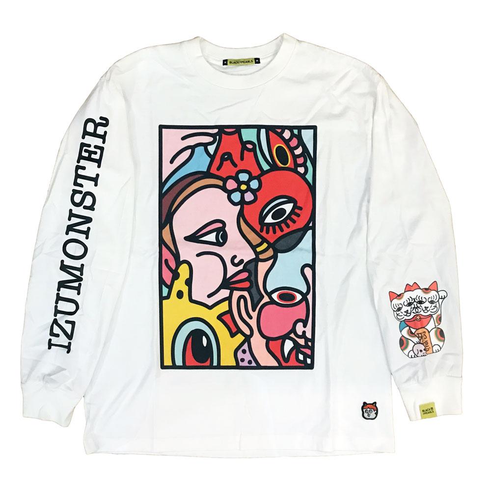 BLACKPEARLS x IZUMONSTER L/S Tee White